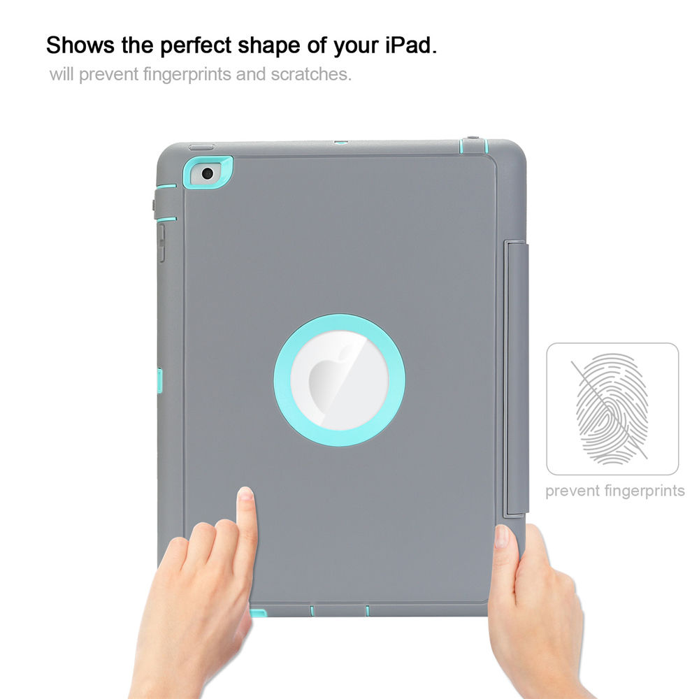 Heavy Duty Shock/Dirt Proof Hard Case& Smart Stand Cover for iPad 4 3 2 mini Air