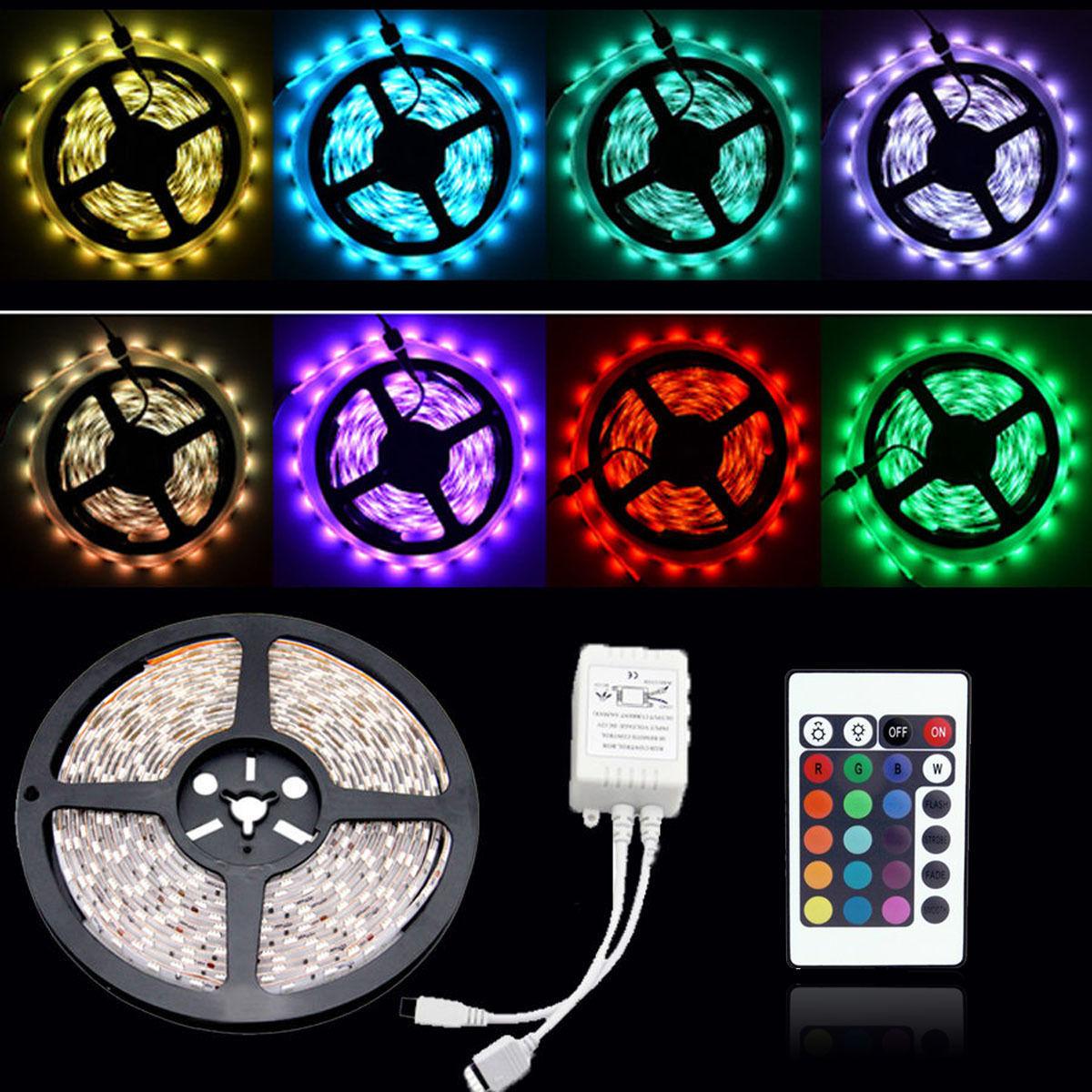 5M 300 LED MOOD LIGHTING IDEAS TV BACK LIGHTS 22 COLOUR CHANGING STRIP RIBBON UK