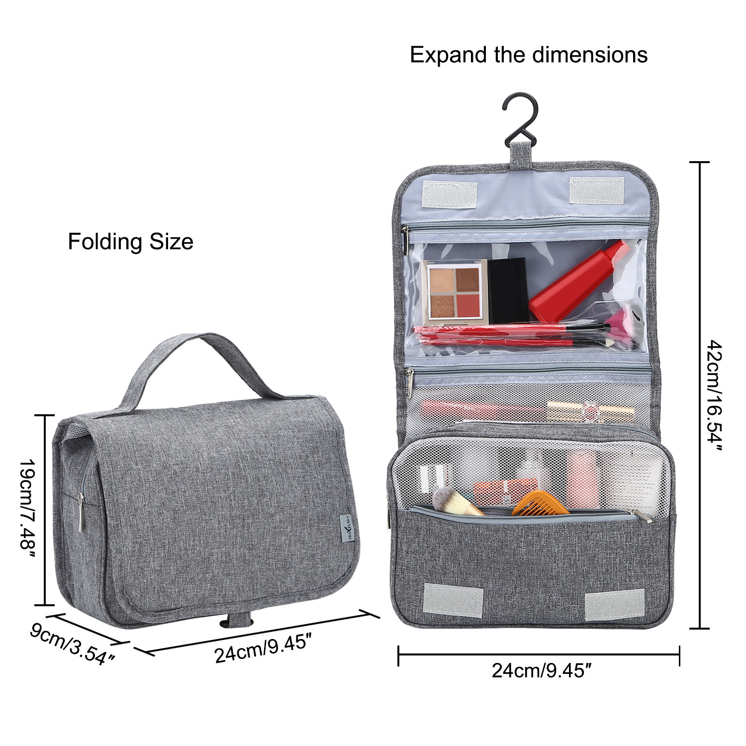 cbca096ee152 US Hanging Travel Toiletry Wash Bag For Men Women Cosmetics Bag for  Travelling