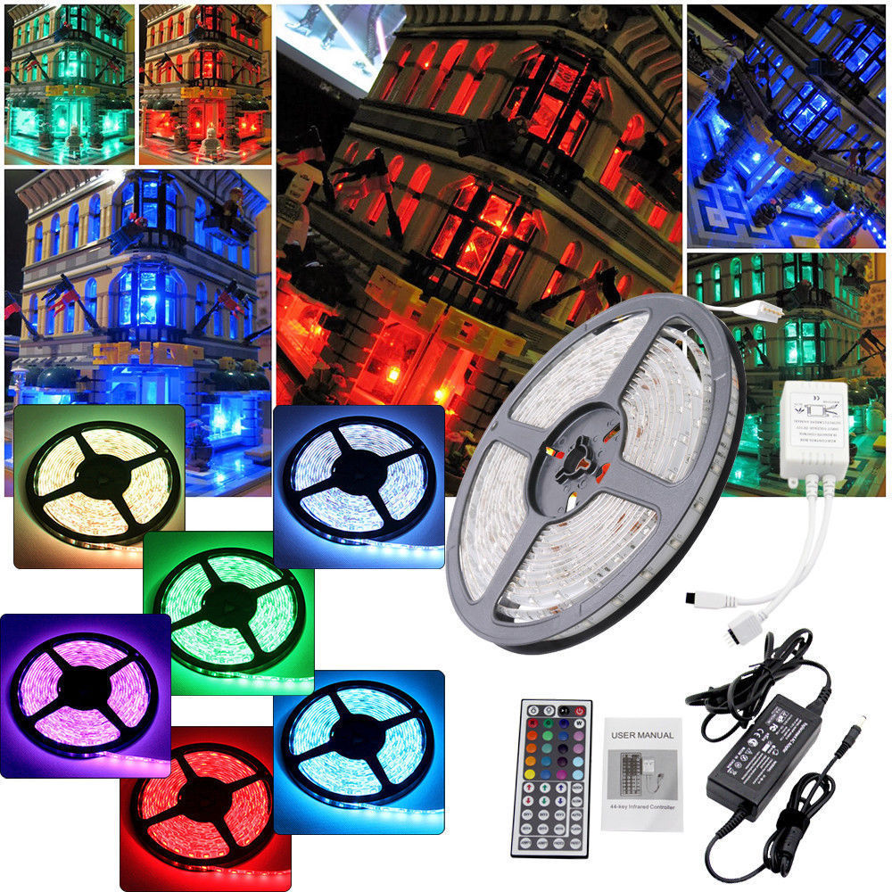 20m 15m 10m 5m led 5050 3528 rgb strip light kit flexible dimmable image is loading 20m 15m 10m 5m led 5050 3528 rgb mozeypictures Choice Image