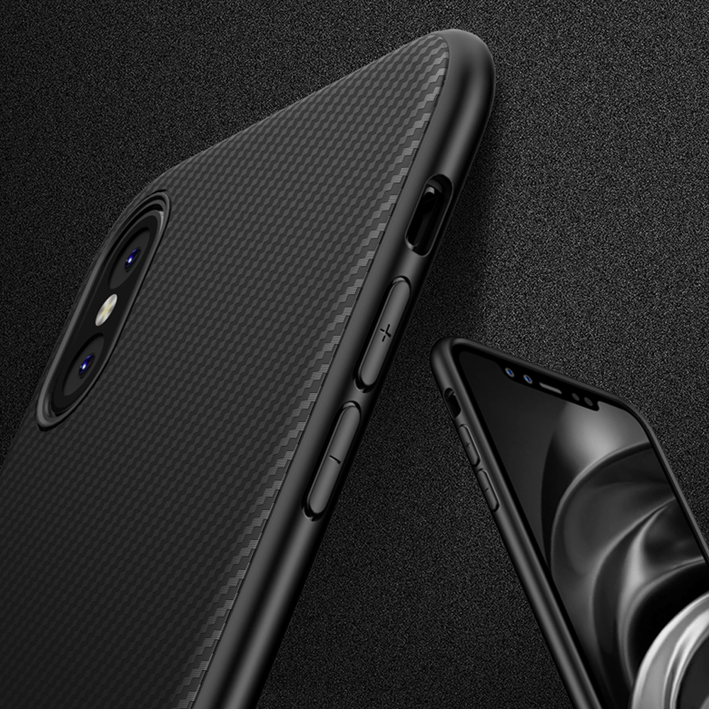 official photos 99be3 0a0b1 For Apple iPhone X Case Black Armor Soft Flexible TPU Case Cover ...