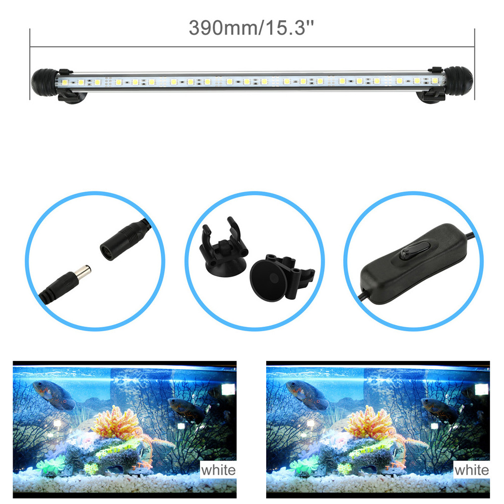 White-39cm-21-LED-Aquarium-Lights-Submersible-Crystal-for-Fish-Tank-NEW-YEAR