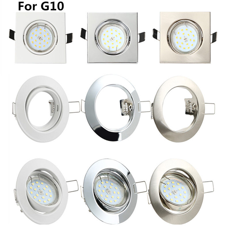 410pc recessed downlight mounting frames gu10 ceiling fitting lamp image is loading 4 10pc recessed downlight mounting frames gu10 ceiling aloadofball Images