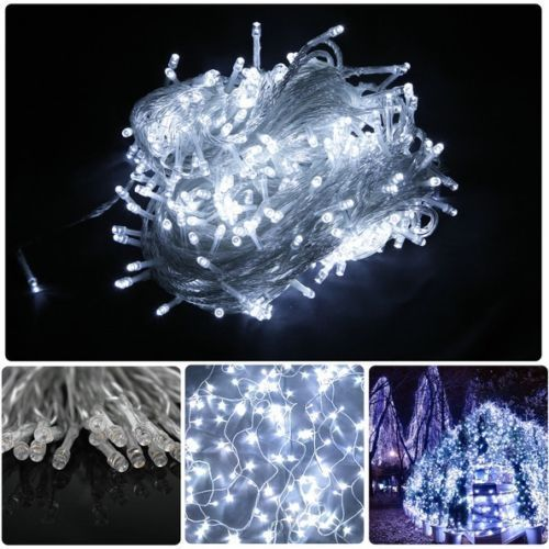 5x-100M-500LED-White-Fairy-Home-Garden-Party-WEDDING-Decorations-String-Lights