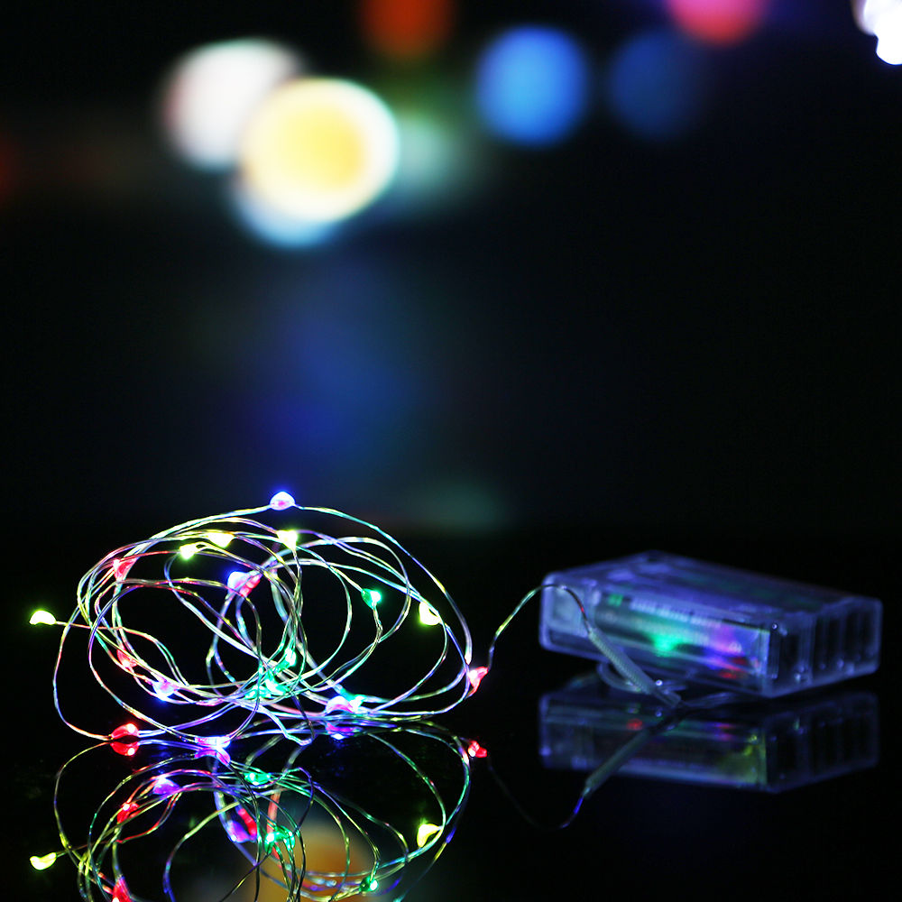 2m 3m 10m Battery Powered Led Starry Fairy String Lights