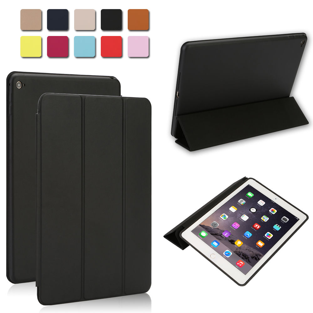 luxury slim smart leather stand cover silicone back case for ipad mini air ebay. Black Bedroom Furniture Sets. Home Design Ideas