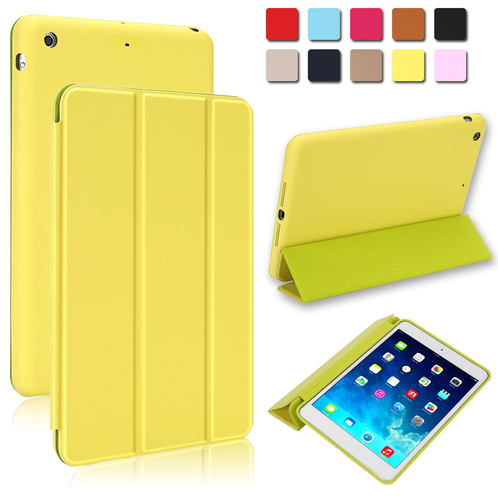 Super-Slim-Smart-Leather-Cover-with-Rubberized-Back-Case-for-iPad-Air-1st-Gen