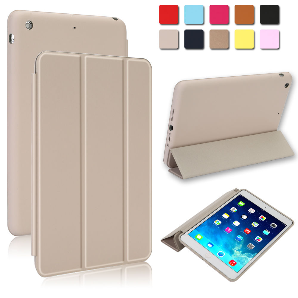 Super-Slim-Smart-Leather-Cover-with-Rubberized-Back-Case-for-iPad-mini-1-2-3