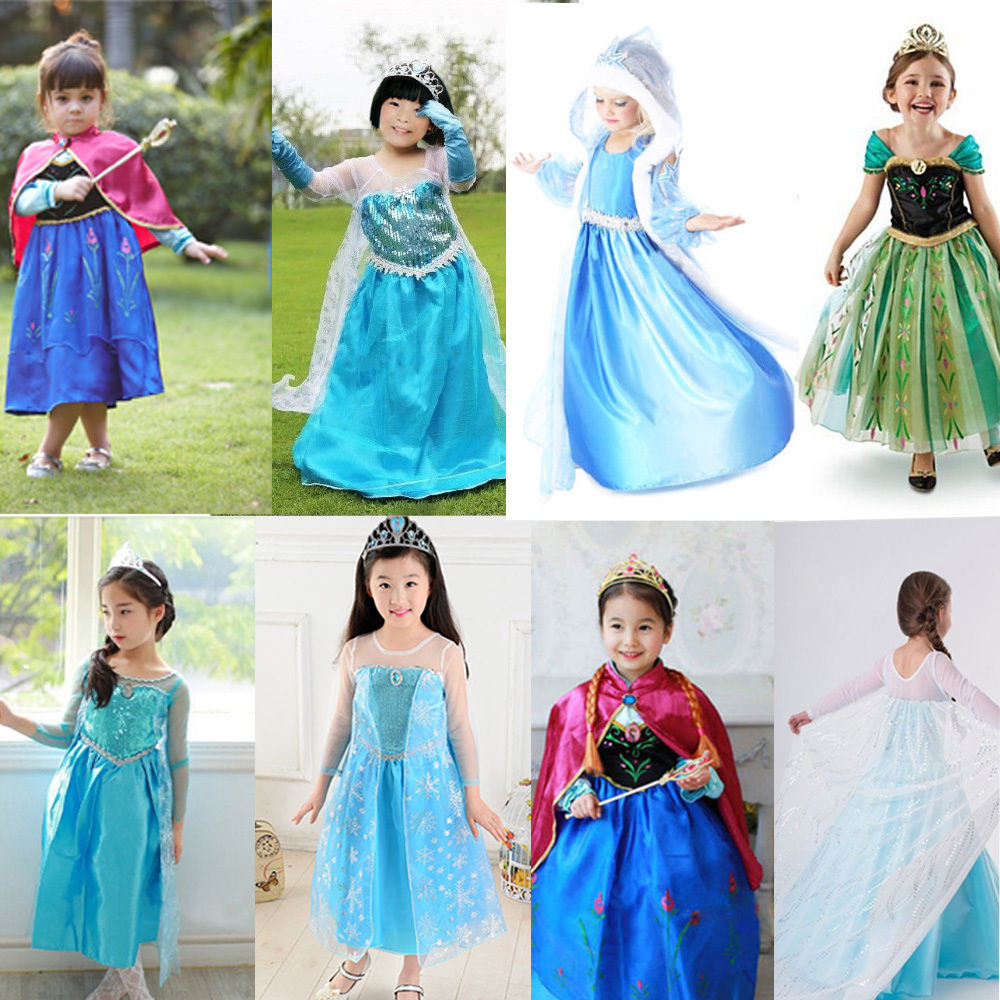 Kid Girl Dress Queen Cosplay Party Princess Christmas Fancy Costume
