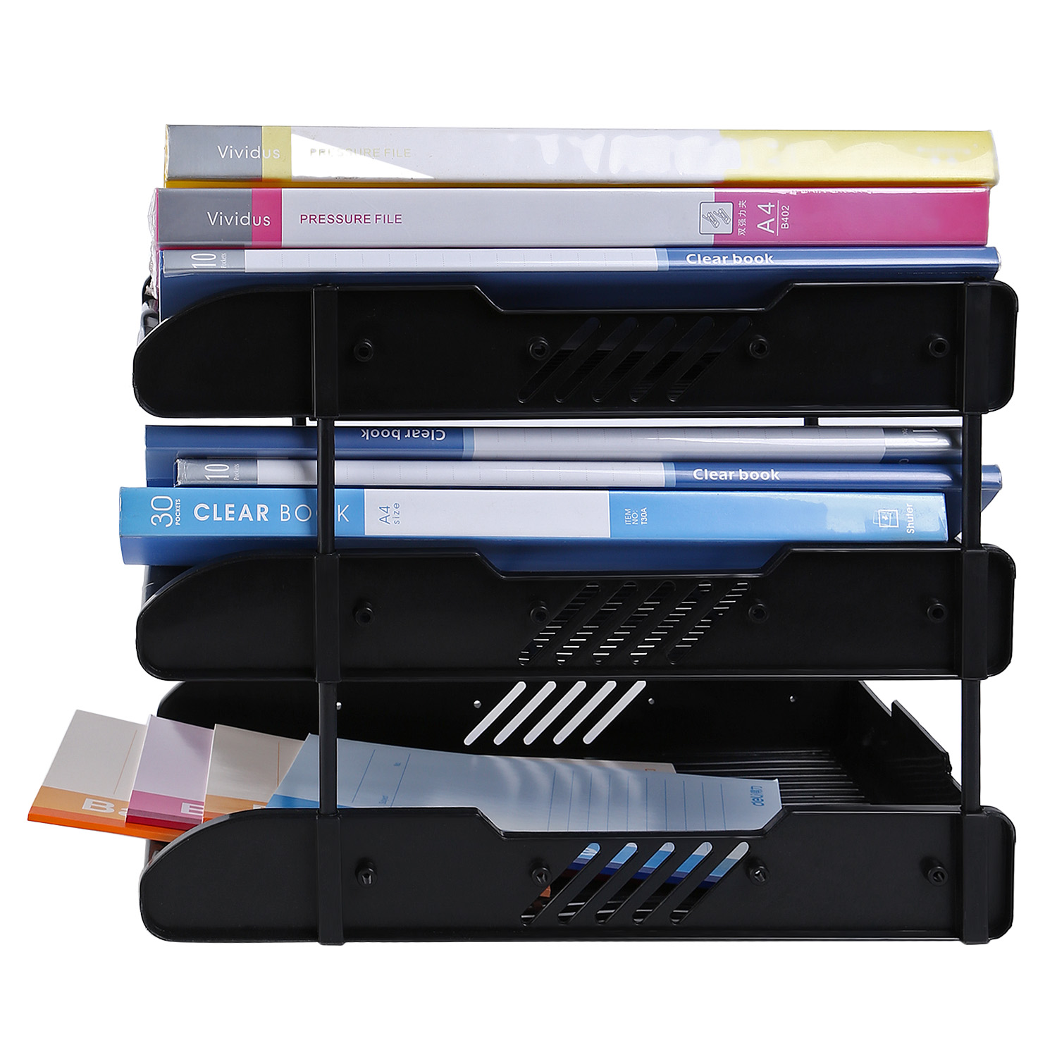 Letter Tray 3 Tier Desktop Doents File Holder