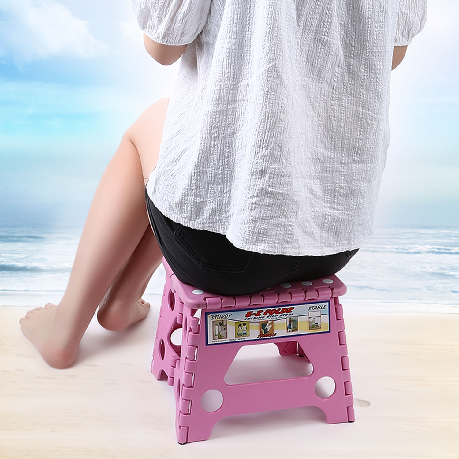 Anti Slip Folding Step Stool for Toddlers Kids Adults Bathroom ...