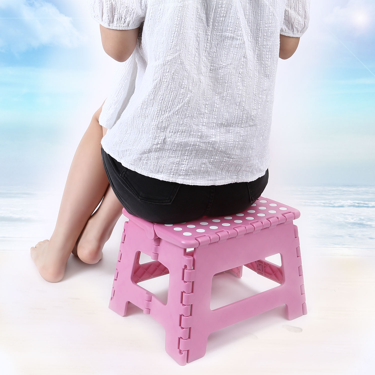 Stepping Stool for Toddlers Kids Bathroom Kitchen Foldable Step ...