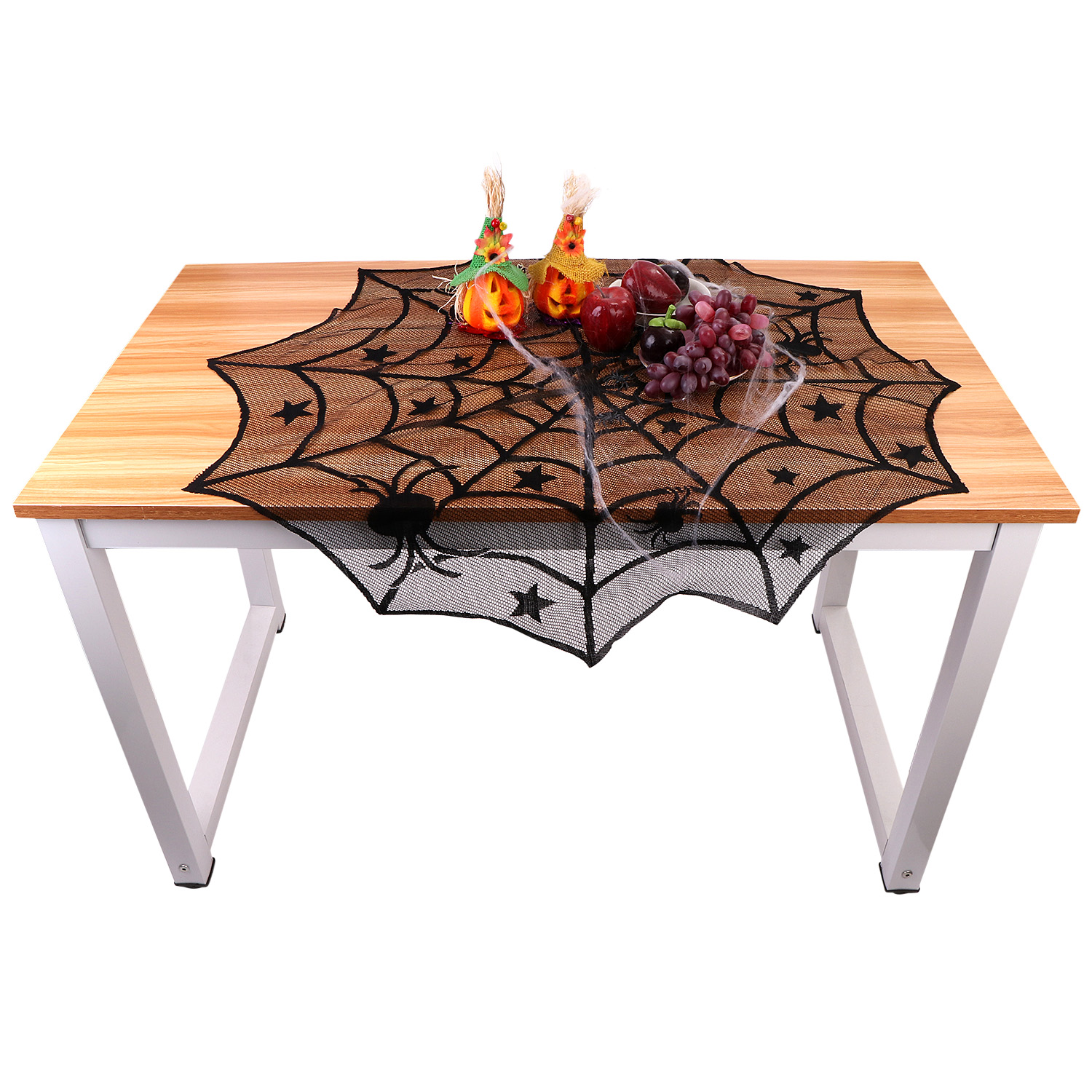 Image Is Loading Decoration Spider Web Tablecloth Halloween Party Lace Table