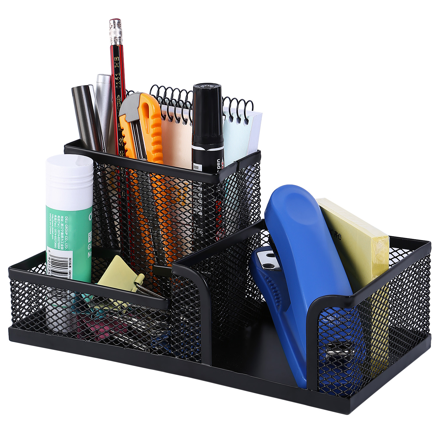 image is loading pen mesh holder stationery container desk organiser office