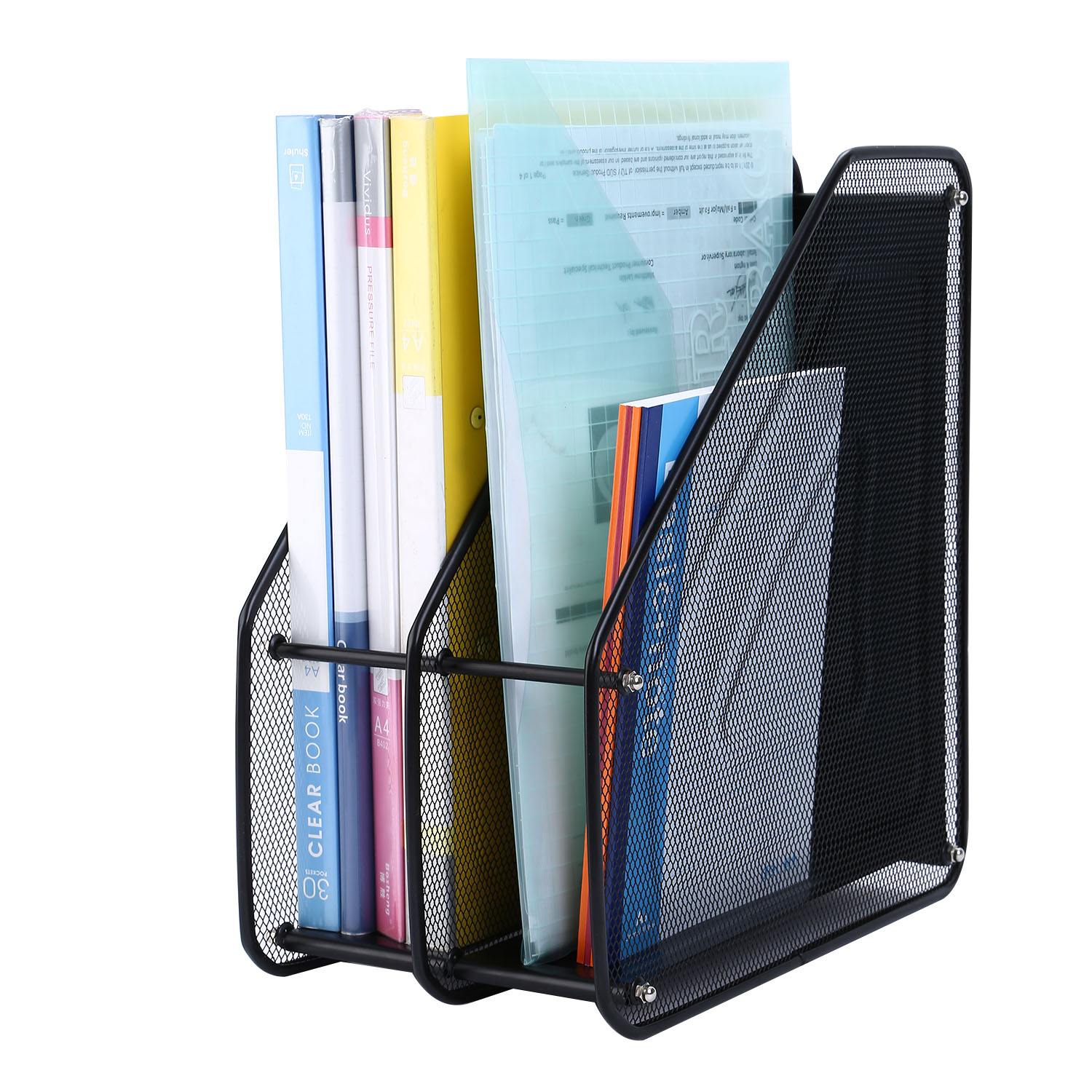 Image Is Loading Mesh Metal Desktop Doents File Folder S Organizer