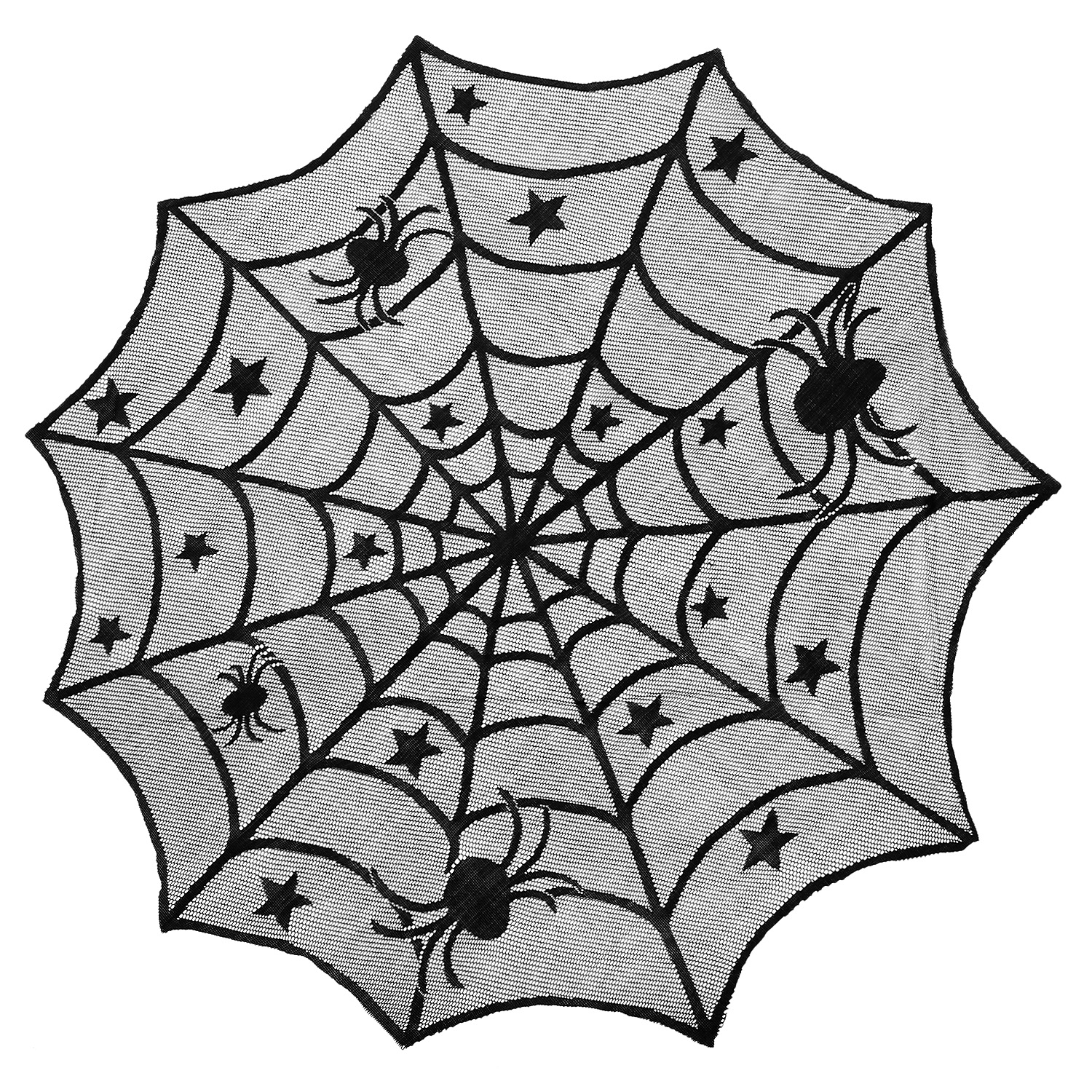 halloween spider web round tablecloth lace cobweb table topper veil