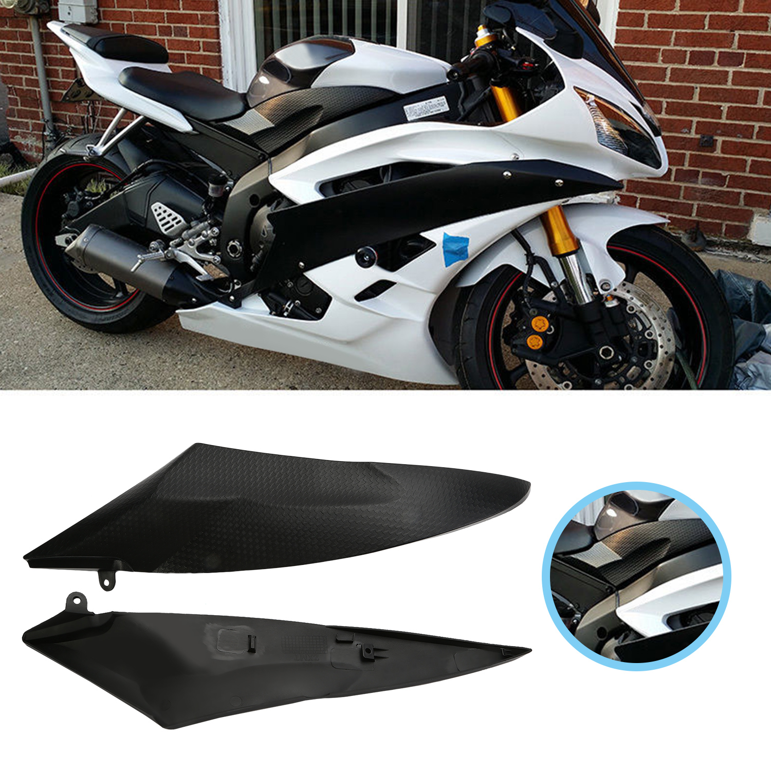 Image Is Loading Left Right Tank Side Cover Panel Fairing Trim