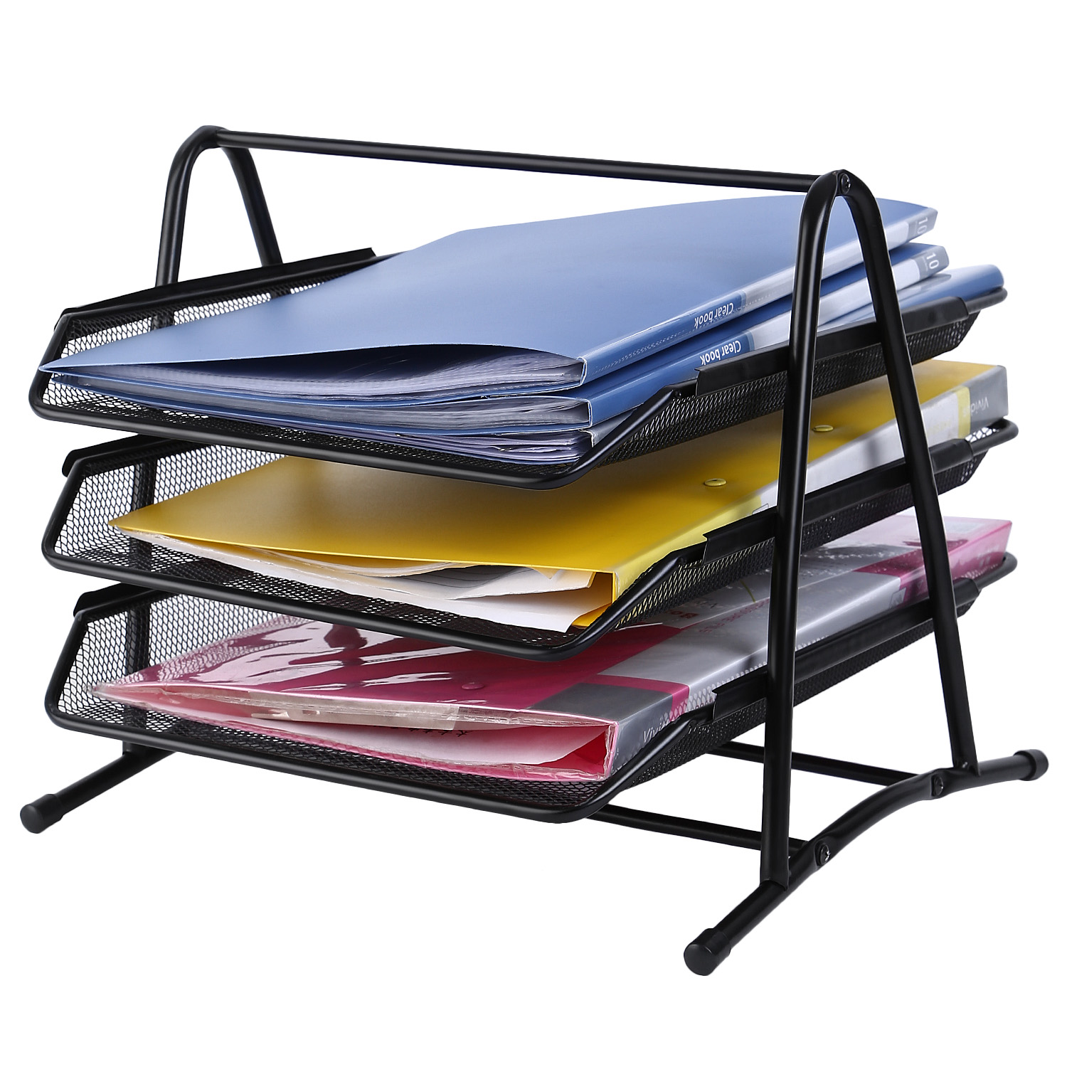 Mesh Metal 3 Tier Desk Doent Letter Tray