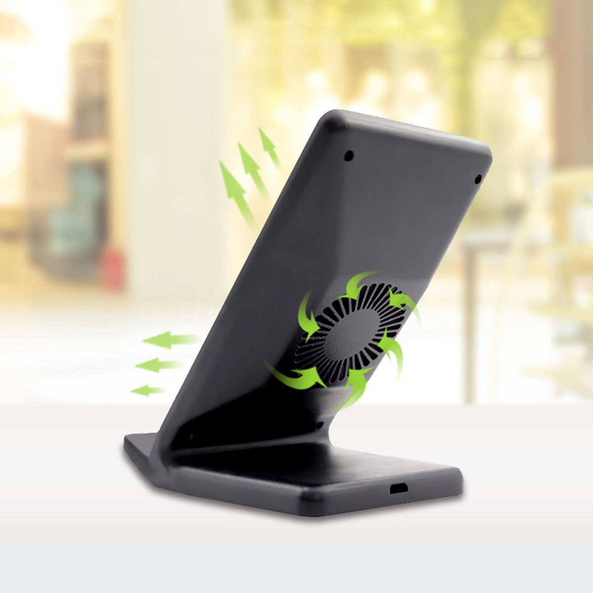 Details about Qi Wireless Charger Fast Charging Dock with Fan For Samsung  S9 S8 Edge Note9 AU
