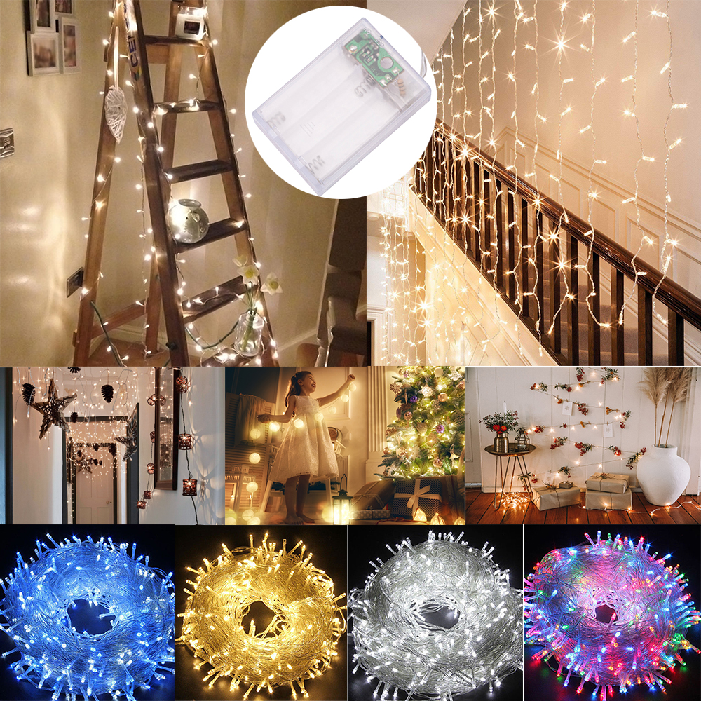 Led Fairy Lights Battery Powered Clear String Plug Lamp