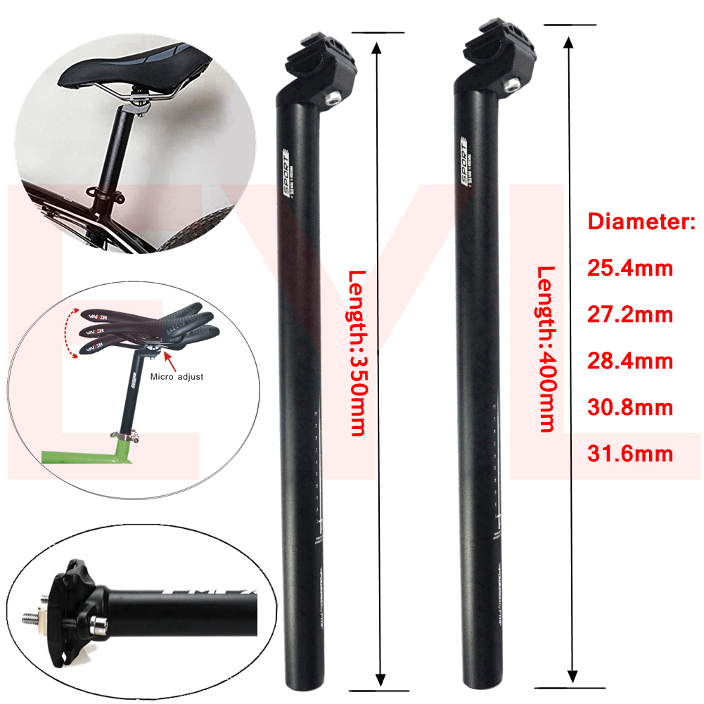 MTB Road Mountain Bike Bicycle Seatpost Tube 350//450mm 25.4//27.2//30.4//30.8//31.6