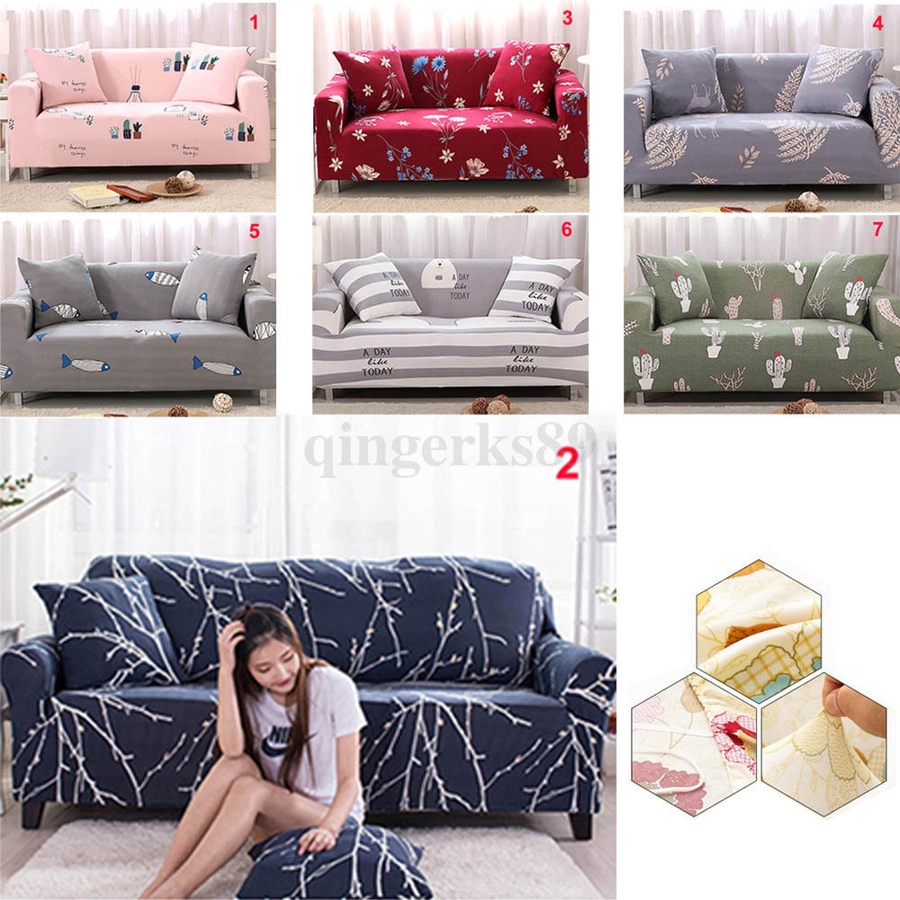Tremendous Details About 1 2 3 Sofa Covers Couch Slipcover Stretch Elastic Fabric Settee Protector Fit Us Gmtry Best Dining Table And Chair Ideas Images Gmtryco