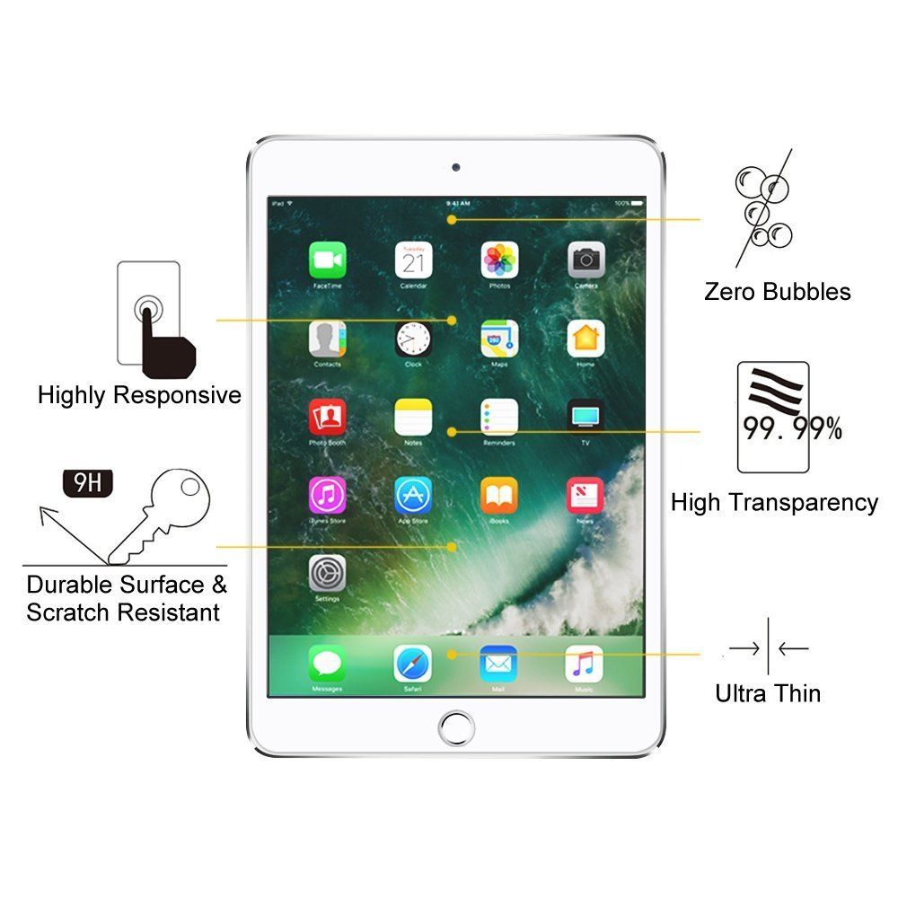 """For Apple iPad 2017 2018 New Pad 9.7/"""" A1822 Tempered Glass Screen Protector Film"""