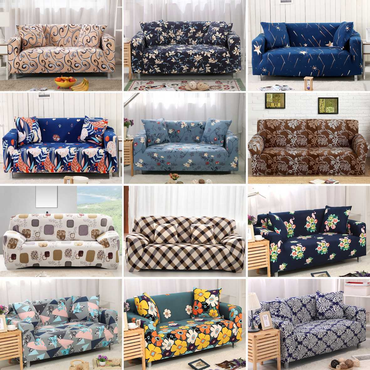 Fantastic Details About 1 2 3 4 Seaters Cover Sofa Stretch Protector Couch Anti Skid Elastic Slipcover Machost Co Dining Chair Design Ideas Machostcouk