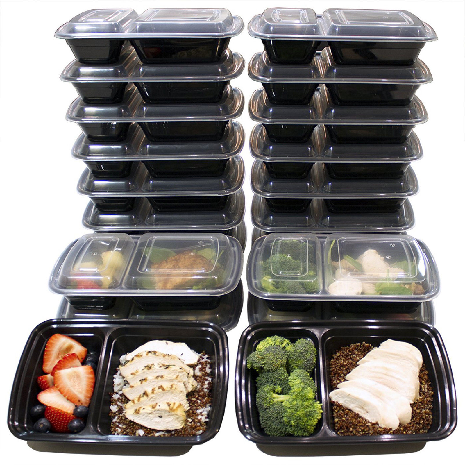 Meal Prep Microwave Safe Plastic Containers Free Lunch Box Food