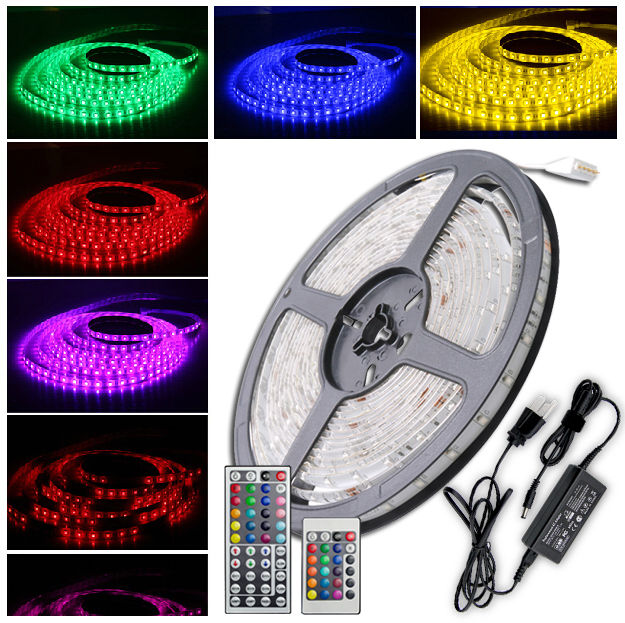 35285050 5m rgb led strip light diy remote 12v waterproof music image is loading 3528 5050 5m rgb led strip light diy aloadofball