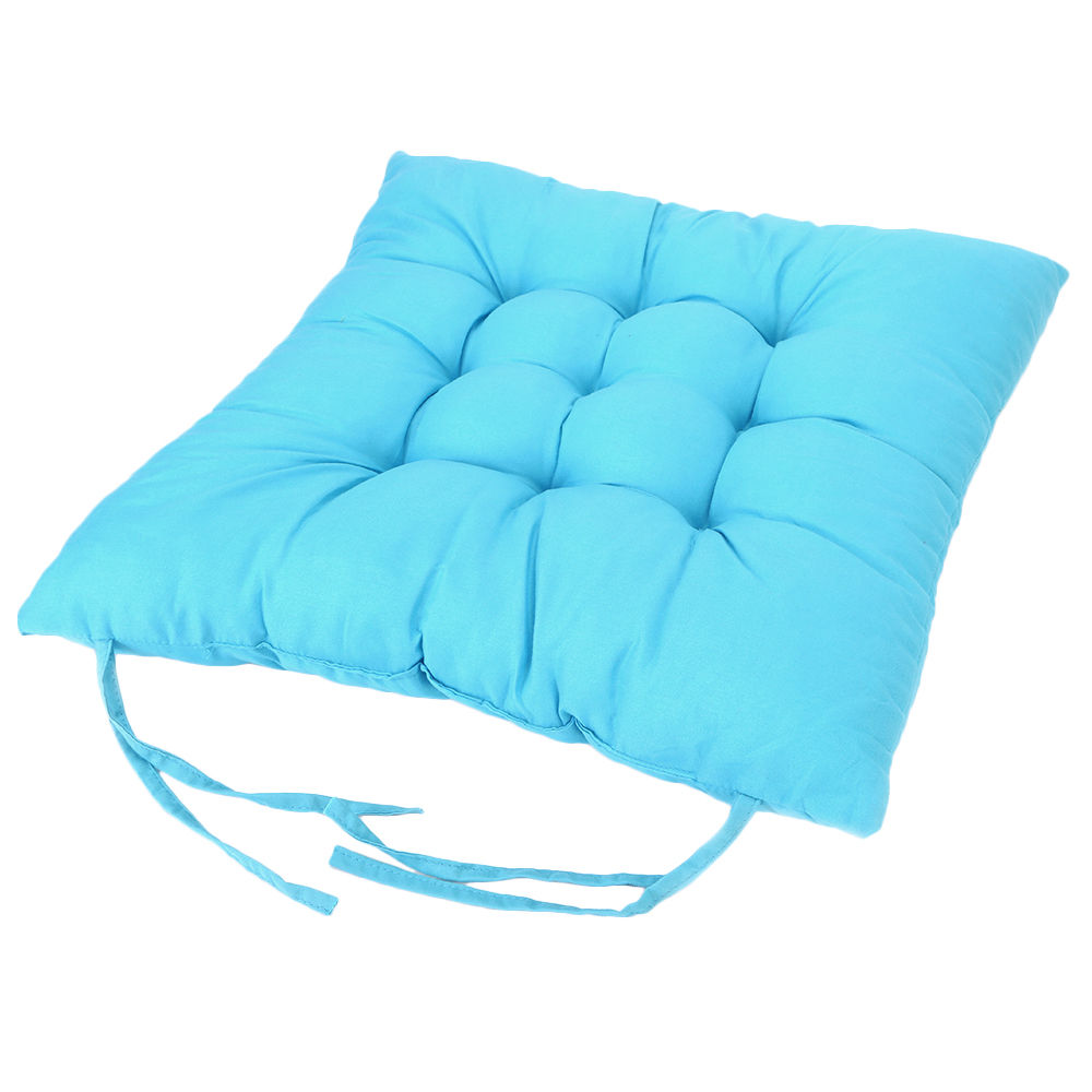 2 4 6 8 10pcs seat pad chair cushion with tie on chunky home dining room garden ebay. Black Bedroom Furniture Sets. Home Design Ideas