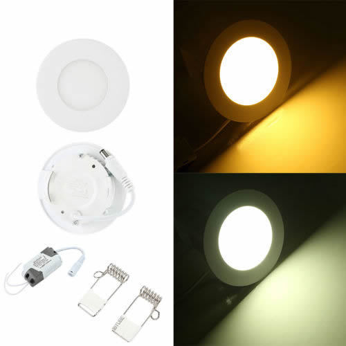 6w 12w 18w 24w Led Recessed Ceiling Flat Panel Down Light: 3W 6W 12W 18W 24W LED Panel Recessed Ceiling Flat Panel