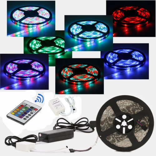 35285050 5m rgb led strip light diy remote 12v waterproof music 3528 5050 5m rgb led strip light diy aloadofball