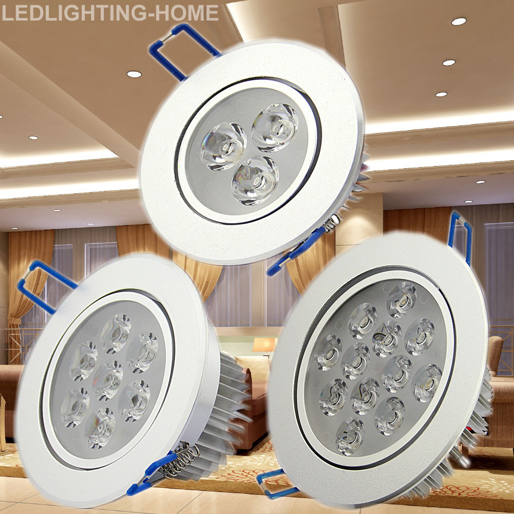 6 12pcs 3w 7w 12w Led Recessed Ceiling Spot Light Lighting Downlight Bathroom 1 Of 1free See More